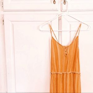 MUSTARD GOLDEN YELLOW XHILIRATION DRESS